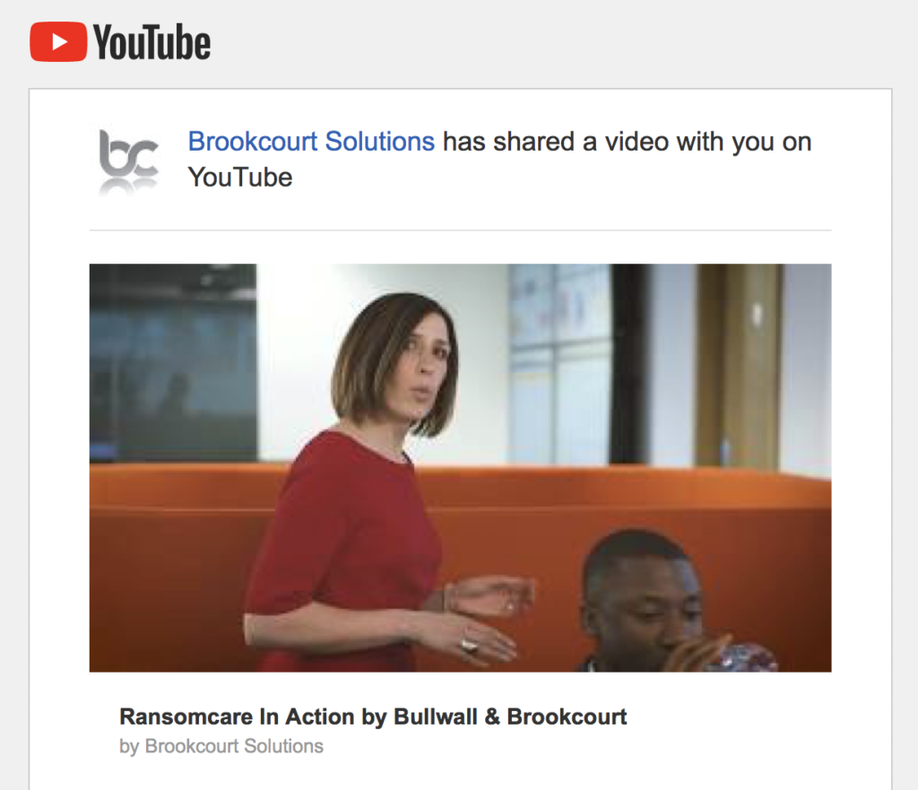 Ransomcare in action by Bullwall & Brookcourt